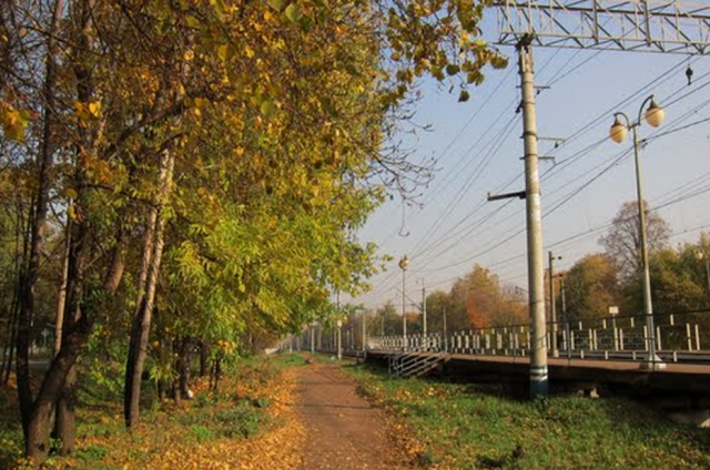 Ж/д станция в микрорайоне «Клязьма»