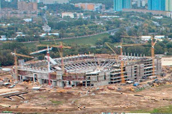 Стадион «Спартак» растет как на дрожжах
