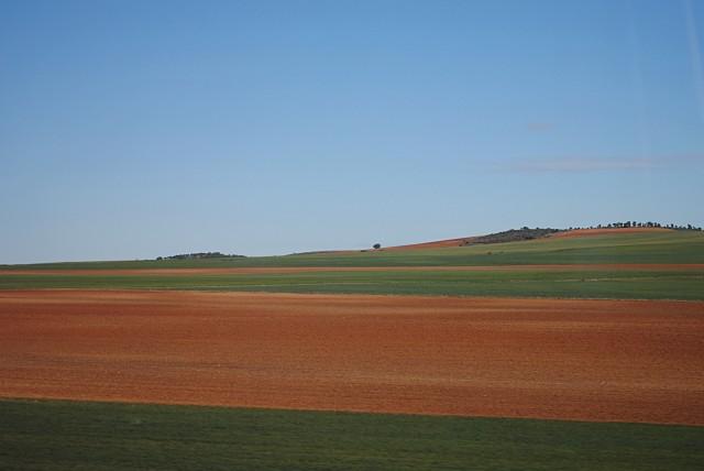 Множество одинаково-унылых пейзажей без кипящей работы и без видимых работников (а также без домашнего скота) простираются от Страны Басков до Португалии...