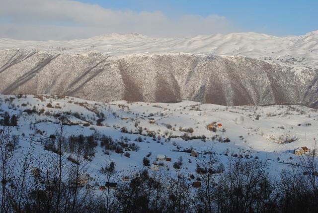 Суровая черногорская зима... Часть општины Плужине 31 декабря 2001 года