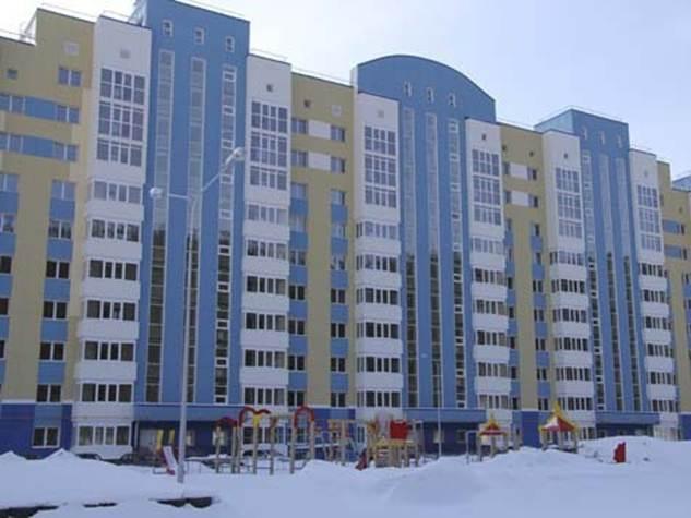 Новый дом по улице Ледовой в районе Гидронамыва