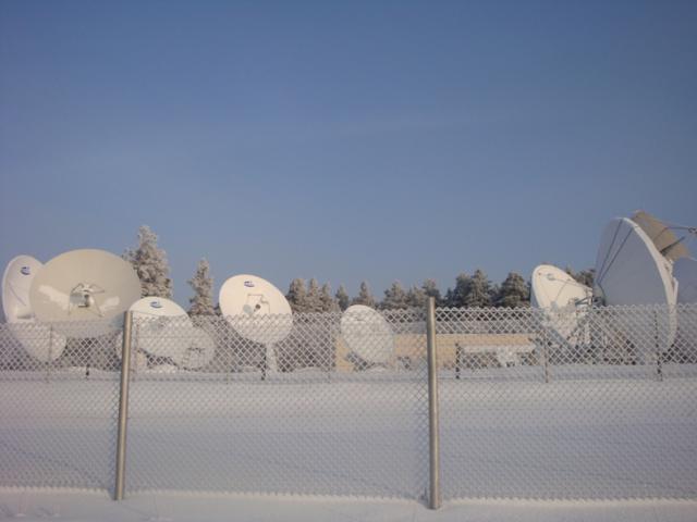 Центр космической связи ОАО «ИСС». При помощи этих антенных систем контролируются и управляются спутники