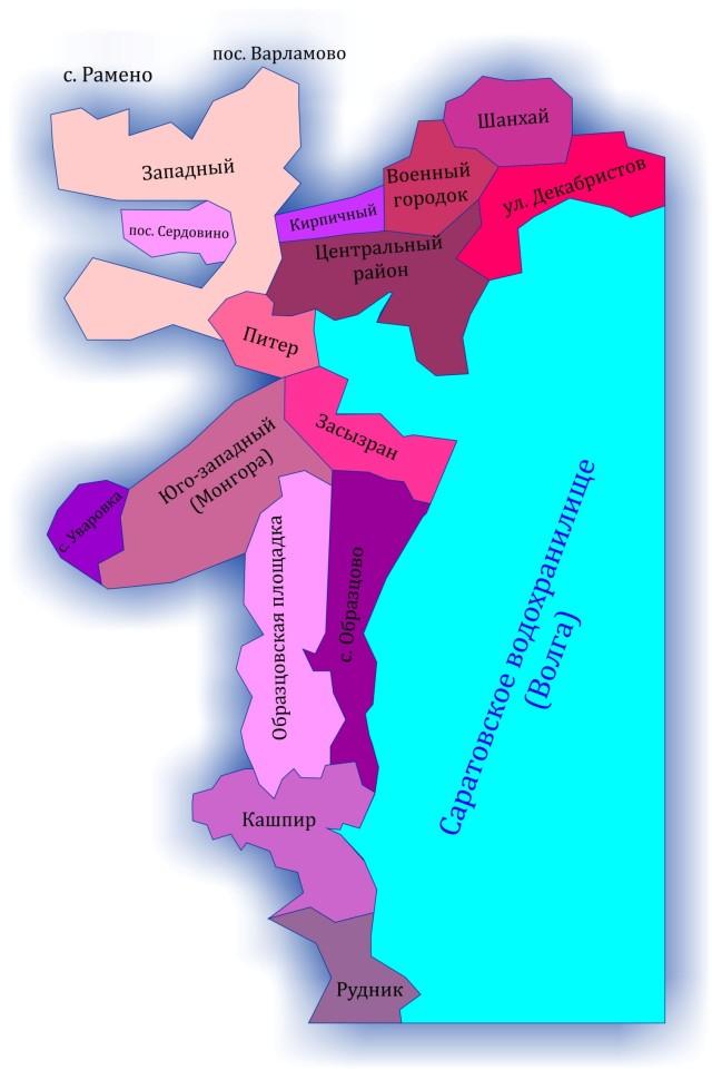 Карта Сызрани