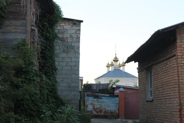 Преображенский храм, недавно отреставрированный, старейший в городе