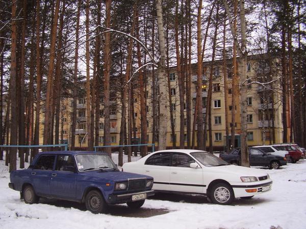 Дом по улице Крупской. В городе много мест, где сохранены естественные зеленые массивы