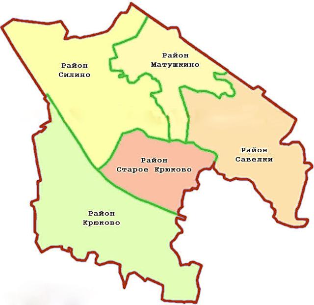 Карта Зеленограда
