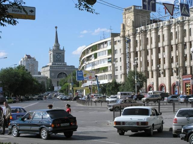 Центр Волгограда. Площадь павших бойцов