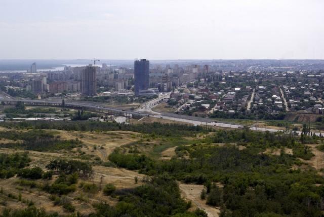 Вид на город из головы Родины-матери