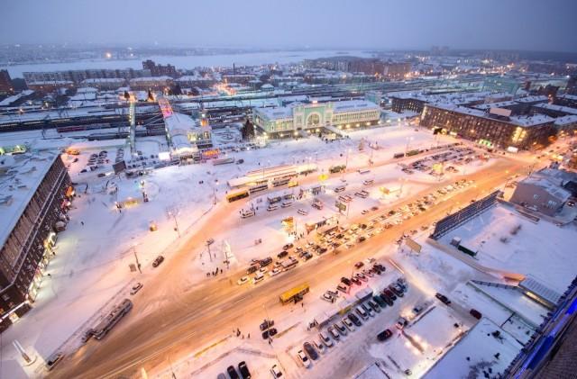 Вокзал Новосибирск-Главный и площадь Гарина-Михайловского