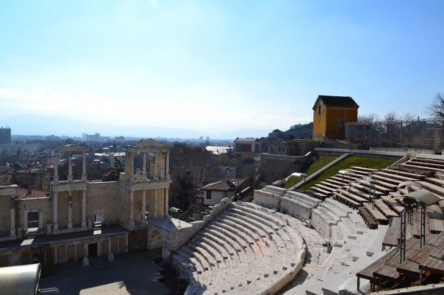 Болгария. Пловдив, римский амфитеатр