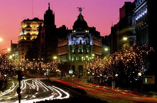 Ночной Мадрид