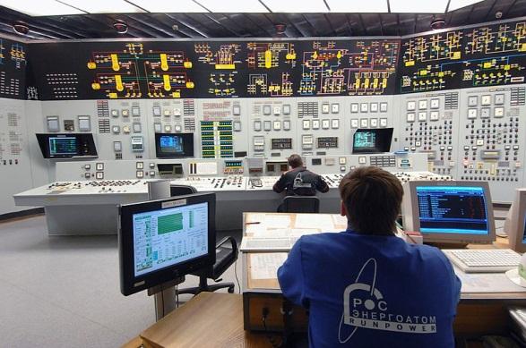 Контрольный щит третьего энергоблока Нововоронежской АЭС