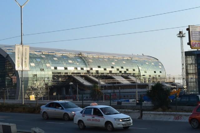 Строящийся вокзал Адлера