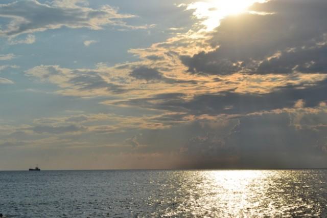 Вид на море с Адлерского пляжа