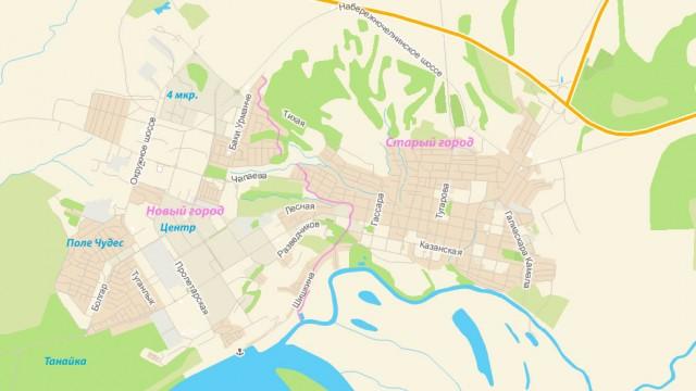 Карта Елабуги