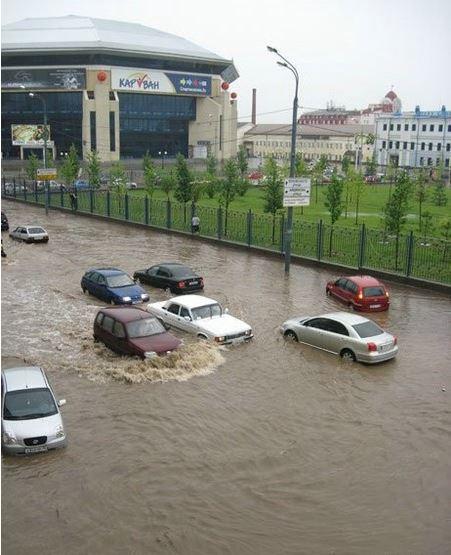 Наглядный пример настоящего потопа