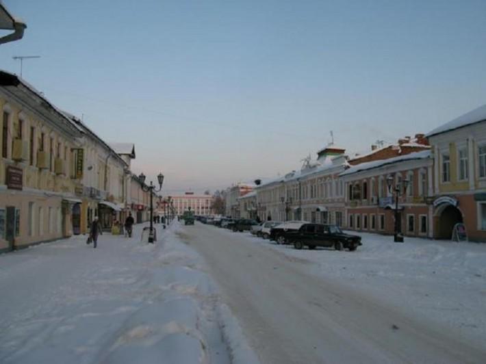 Снежный денек в Муроме. Центр города