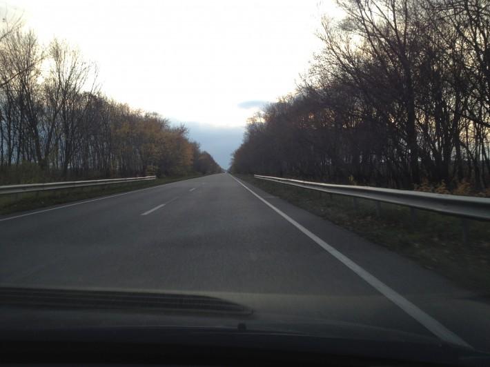 Украина. Трасса от границы до поворота на Киев