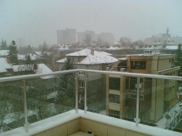 Вид с террассы, но уже со снегом