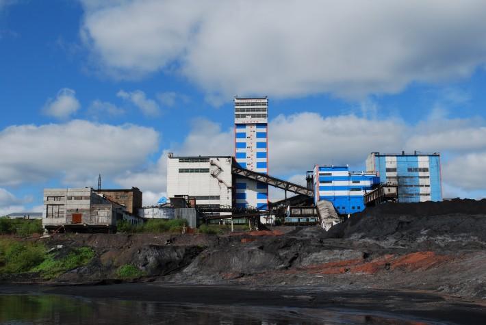 Близлежащая к городу шахта «Воркутинская»