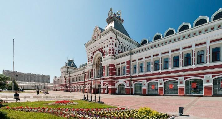 Главное здание Нижегородской ярмарки — выставочного комплекса международного уровня