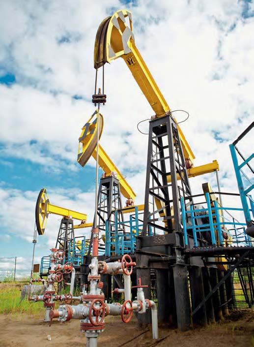 Нефтяные вышки месторождения «Советское»