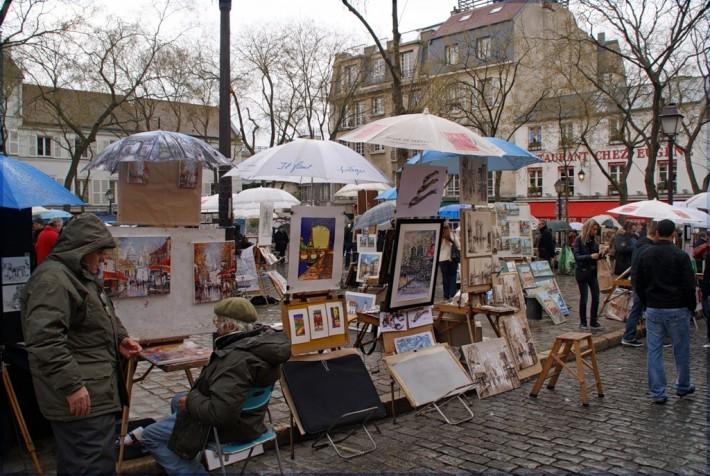 Площадь Тертр на Монмартре