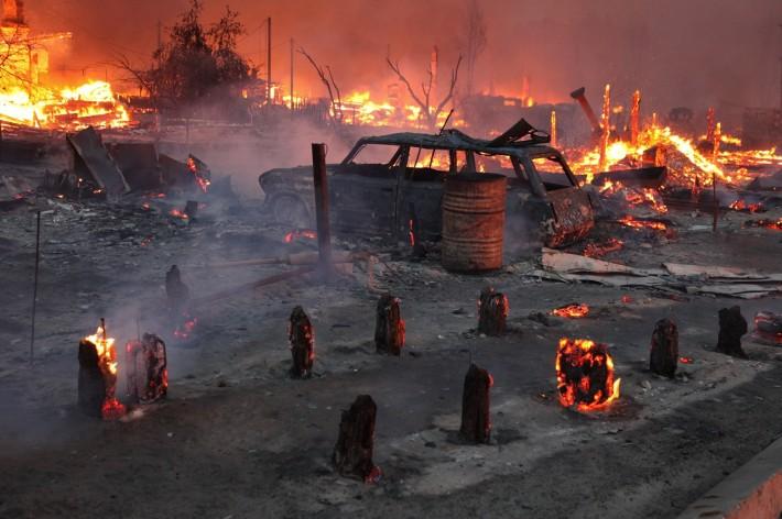 Вот к таким невеселым последствиям приводят лесные пожары