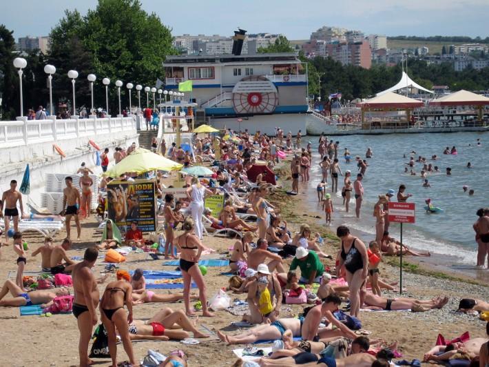 Один из центральных пляжей города
