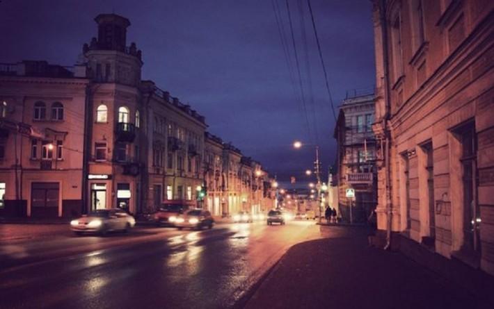 Ул. Большая Советская. По правой стороне второй корпус Сельскохозяйственной академии и Ленинская библиотека