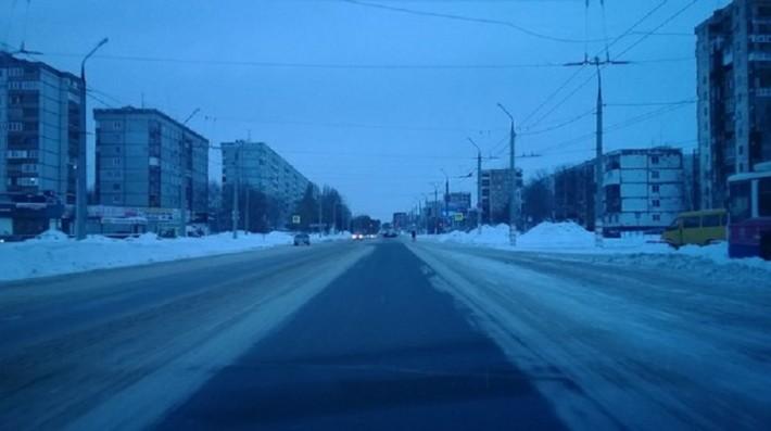 Проспект Победы, центральный проезд