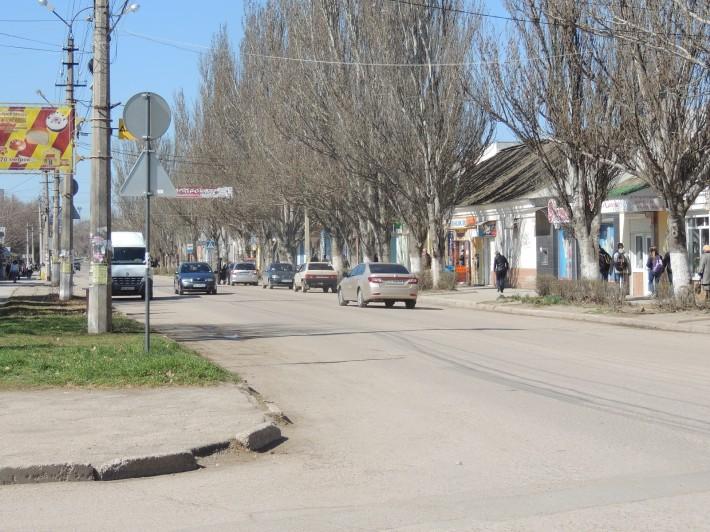 Состояние дороги на центральной улице Ленина