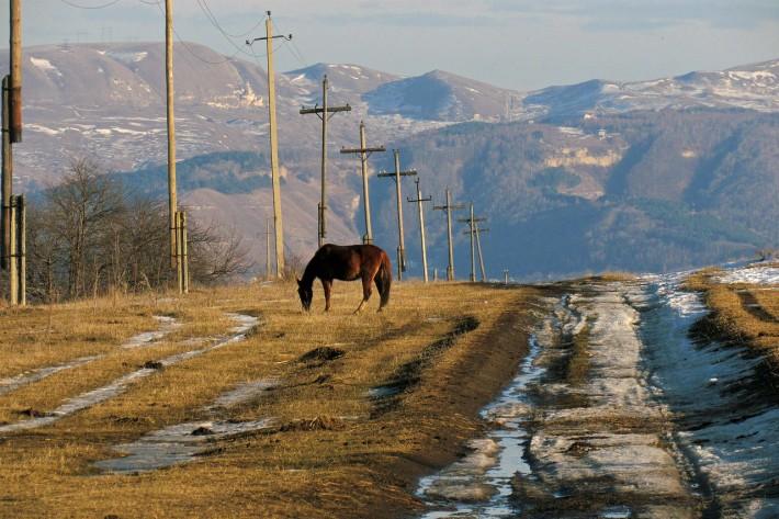 Типичный пейзаж Кабардино-Балкарии