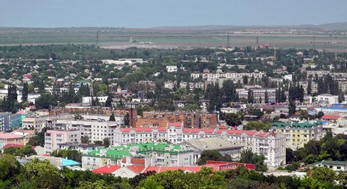 Вид с горы Митридат на центр города