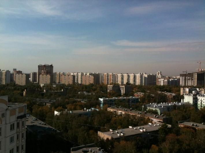 Вид на дома Октябрьского проспекта, 2012 год