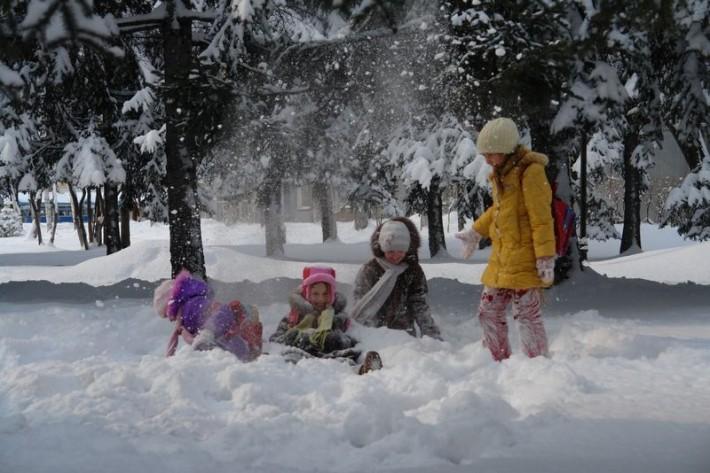 Зима в Биробиджане