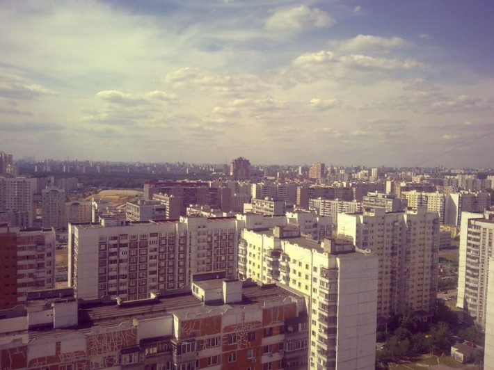 Вид на Городок Б со стороны Люберец, 2012 год
