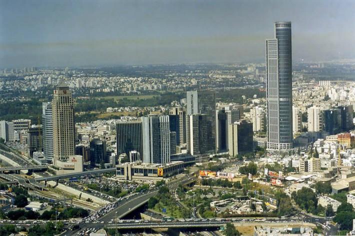 Панорама Рамат-Гана со стороны северного Тель-Авива