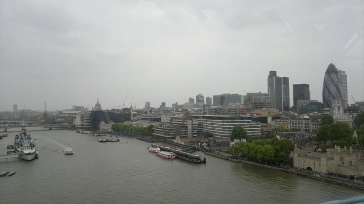 Вид на Темзу - северный берег