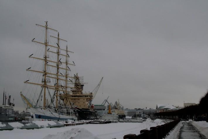 Заснеженный Санкт-Петербург