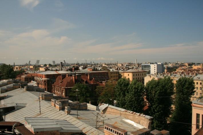 Вид на крыши города