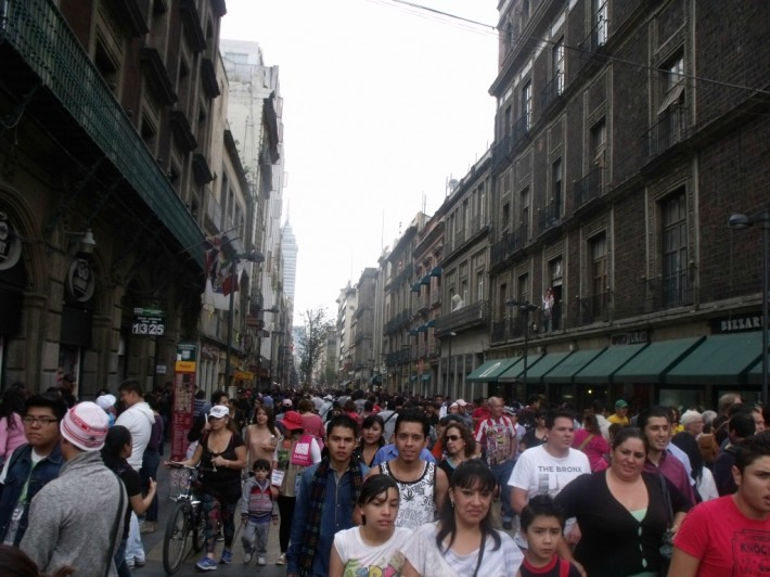 Променад в центре Мехико