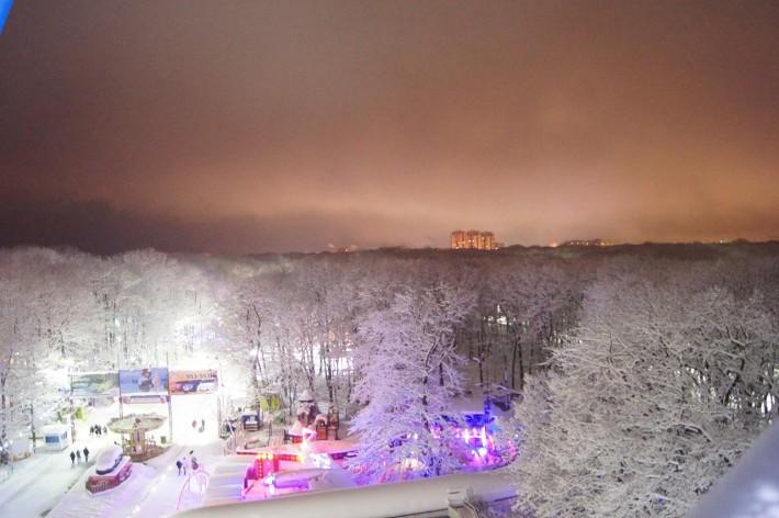 Парк Победы зимой. Колесо обозрения
