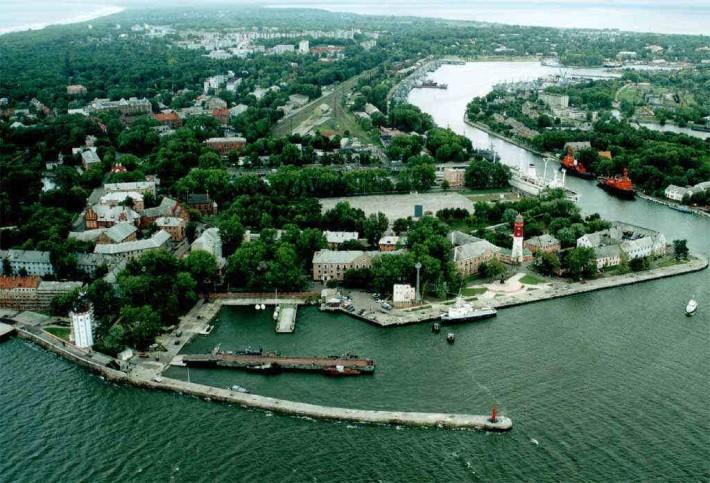 Общий вид на Балтийск с высоты птичьего полета