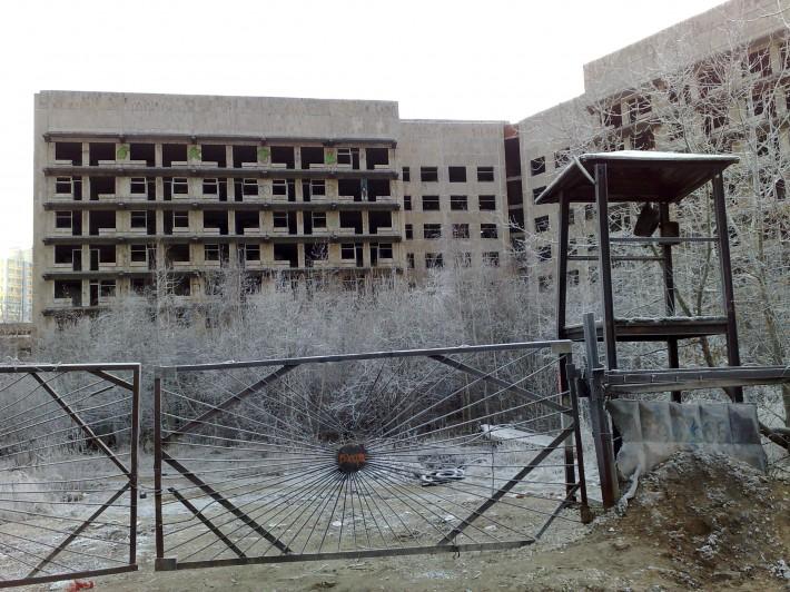 Заброшенная стройка госпиталя ФСБ