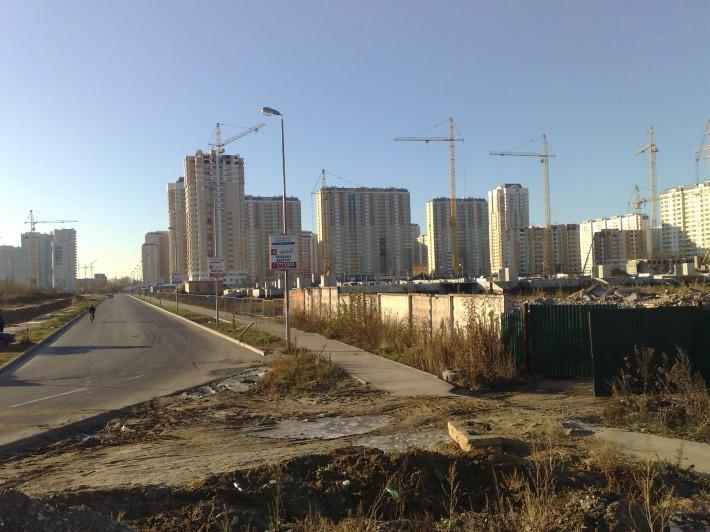 Первый квартал застройки бывших земель совхоза садоводства