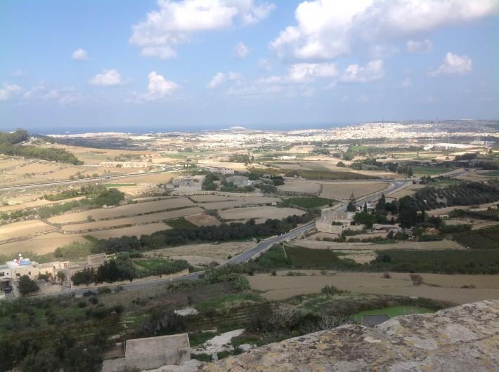 Вид острова со стен крепости, Мдина
