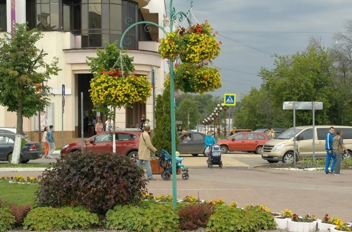 Одна из улиц нашего нового города