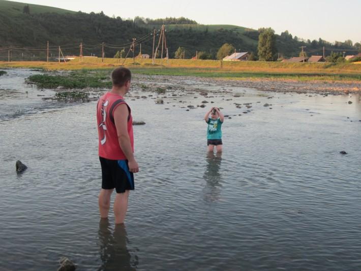 Речка Чойка, летом из дома и сразу туда (от дома - 100 м)