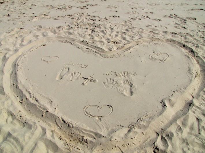 Чудесные признания на чудесном песке